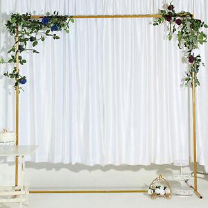 Gold Wedding Arch Metal Frame Flower Ballon Garland Decor Backdrop Stand Display