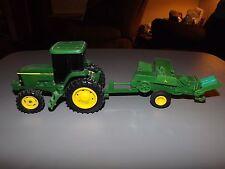 2 Pc John Deere Plastic Tractor and Hay Baler