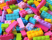 NEW Lego 100 ALL Bricks Mix Lot Blocks Girls Friends Pink Purple Azure Lime  4-3