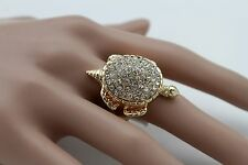 Fashion Jewelry Elastic Band Silver Beads New Women Gold Metal Water Turtle Ring