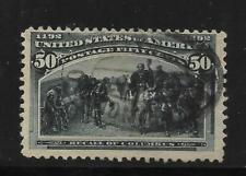 #V - U.S. - 1893 Columbian - 50c - Used  - Scott# 240