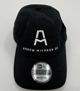 Arrow McLaren SP Indy Racing Hat Black White New Era 9Twenty Adjustable New
