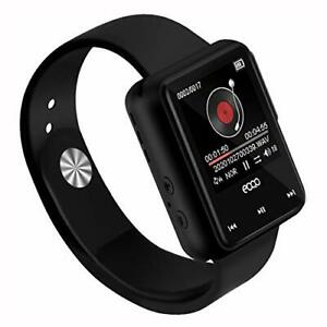 Smart Watch Voice Recorder, 16GB MP3 Music Player with Smart Watch Style-Black