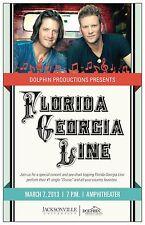 FLORIDA GEORGIA LINE 2013 JACKSONVILLE CONCERT TOUR POSTER - Country Music Stars