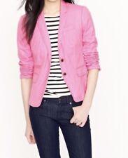 J Crew Womens Schoolboy Pink Blazer Jacket Lightweight Sz 0 Preowned