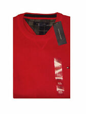 TOMMY HILFIGER Men's Red Crewneck Cotton Sweater Sz.XXL NWT