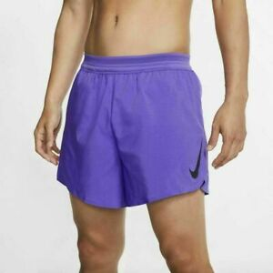 "NWT $80 Nike Men'  AeroSwift 5"" Running Shorts & Briefs SMALL S CJ7840 500"