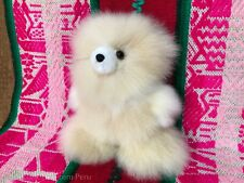 Handmade Alpaca Fur Mini Bear, Handmade Stuffed Animal Bear, Peruvian Gift Ideas