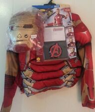 NEW Avengers Iron Man Full Costume Outfit Mask Muscle Chest 10 12 ID Card
