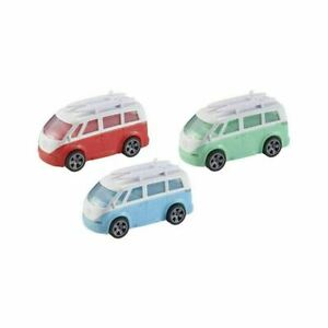 Teamsterz VOLKSWAGON Holiday Camper Van With Surf Boards Pastel COLOURS NEW