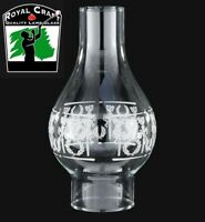"3"" X 9 1/4"" ~ Clear ~ Diana ~ GLASS Oil Lamp ~ CHIMNEY ~ Fits #2 Burner ~ #G7965"