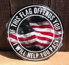 If American Flag Offends Help Pack Metal Sign Vintage Garage Bar Wall Patriotic