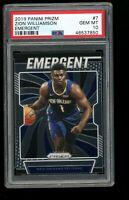 2019 Panini Prizm Emergent #7 Zion Williamson Pelicans Rookie Card RC PSA 10