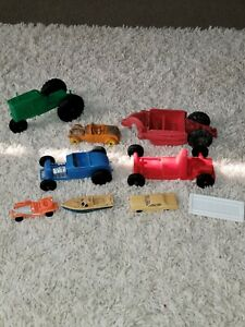 Vintage Plastic And Rubber Toy Car Lot