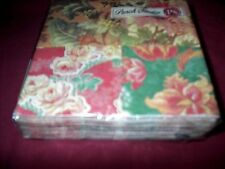 PUNCH STUDIO PAPER BEVERAGE NAPKINS-PACK OF 20-NEW-FLORAL COLLAGE THEME