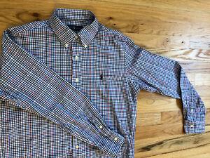 Men's Polo Ralph Lauren Size M L/S Dress Shirt Nice Multicolor Pattern