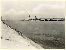 photo ancienne Usine de Kembs .barrage et canal .  1933