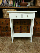 BESPOKE  H80 x W75 x D23cm WHITE  2 DRAWER 1 SHELF CONSOLE HALL BEDROOM TABLE