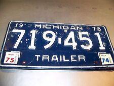 Vintage License Plate  ( Michigan )   ( 1973 )