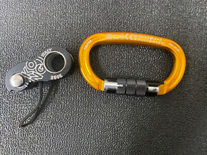 Kong Duck Ascender (Black)  / Kong Ovalone Twist Lock Carabiner (Orange)