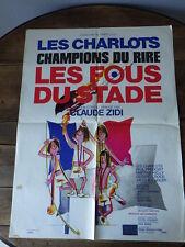 AFFICHE CINEMA (60x80) LES CHARLOTS LES FOUS DU STADE Claude Zidi (G39)