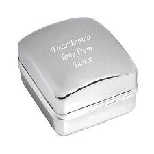 Caja De Anillo De Cromo Grabado-Grabado Gratis-anillos, BODAS, COMPROMISO