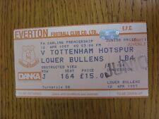 12/04/1997 Ticket: Everton v Tottenham Hotspur (Complete). This item has been in