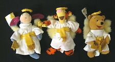 "SET 3 Disney StoreTigger Angel / Plush Winnie The Pooh/Eeyore  9"" Stuffed Animal"