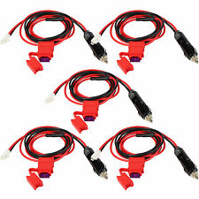 5X 12V DC Power Cables Cord Cigarette Lighter Plug for Hytera HYT MD780/650Radio
