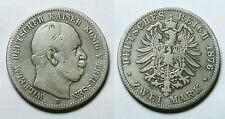 ALEMANIA ESTADOS.  PRUSIA.  2 MARCOS 1876 B.    BC