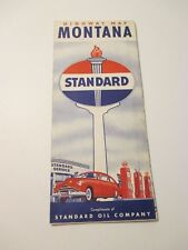 Vintage 1950's STANDARD Montana Oil Gas Service Station Road Map