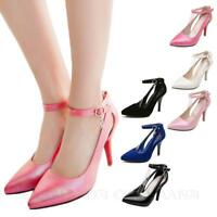 Womens high heel Sandals Buckled stiletto party prom Pumps Plus Size Shoes kala
