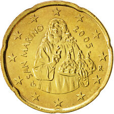 [#99160] San Marino, 20 Euro Cent, 2005, MS(63), Brass, KM:444