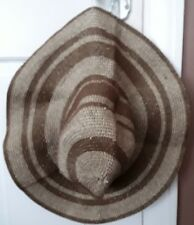 FLOPPY STRAW SUN HAT, BRAND NEW WITH TAGS