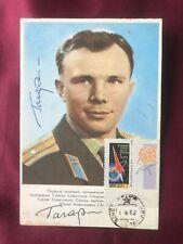 Autograph YURI GAGARIN-Astronaut RUSSIA-deceased-original handsigned Postcard