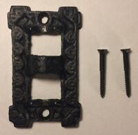 "NEW 3"" Long Black Cast Iron Square Wall Bracket Lamp Hinge with screws   #HIN26"