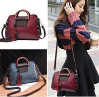 Women Leather Shoulder Handbags Messenger Satchel Bags Crossbody Ladies Tote