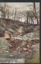 Yorkshire Postcard - The Waterfalls, Roundhay Park, Leeds   RT1064