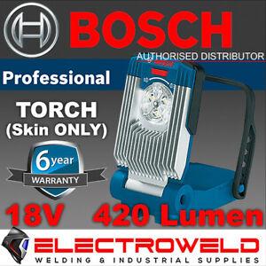 BOSCH 18V 420 LUMEN TORCH LED CORDLESS WORK LIGHT FLOOD SPOT LAMP GLI *SKIN ONLY