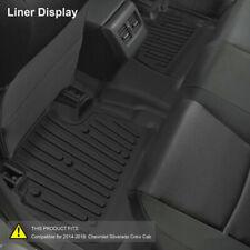 Floor Mats Liners for 2015-2018 GMC Sierra 1500 2500HD 3500HD Heavy Duty Rubber