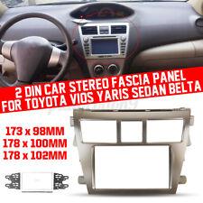 Car Stereo CD DVD MP5 Fascia Panel Frame Trim For Toyota Vios Yaris Sedan