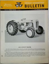 Massey-Ferguson Mf-35 Utility Tractor Product Information Bulletin