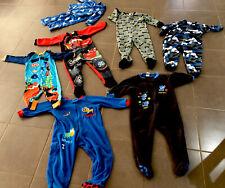 Boys Size 3 Sleepwear All In One One Piece Pyjama Batman Lightening McQueen Nemo