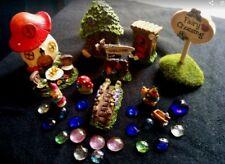 Deluxe-Fairy-Garden-Set-Starter-Kit-Houses-Sign-Bridge 11 pc W/ Accessories #22