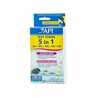 API 5 in 1 TEST STRIPS FOR WATER TESTING IN AQUARIUMS 0317163070338