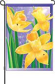 Dew Drop Daffodils Garden Flag PR51787