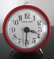 TIMEMASTER WECKER rot analog mechanisch Vintage Alarm Clock 1970er? funktioniert