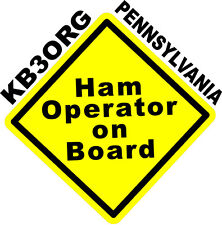 Personalized Amateur Ham Radio Decal Ham On Board