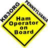 Personalized Amateur Ham Radio Decal Ham On Board