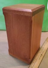 Mahogany wood Cremation Ashes Casket Urn Funeral Remembrance Burial NEW 5 X 10